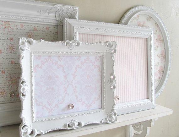 Memoboard Kinderzimmer ~ Shabby chic nursery decor magnet board collection pink wedding
