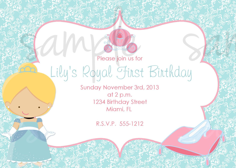 Cinderella Birthday Invitation Inspired | Princess Birthday Party ...