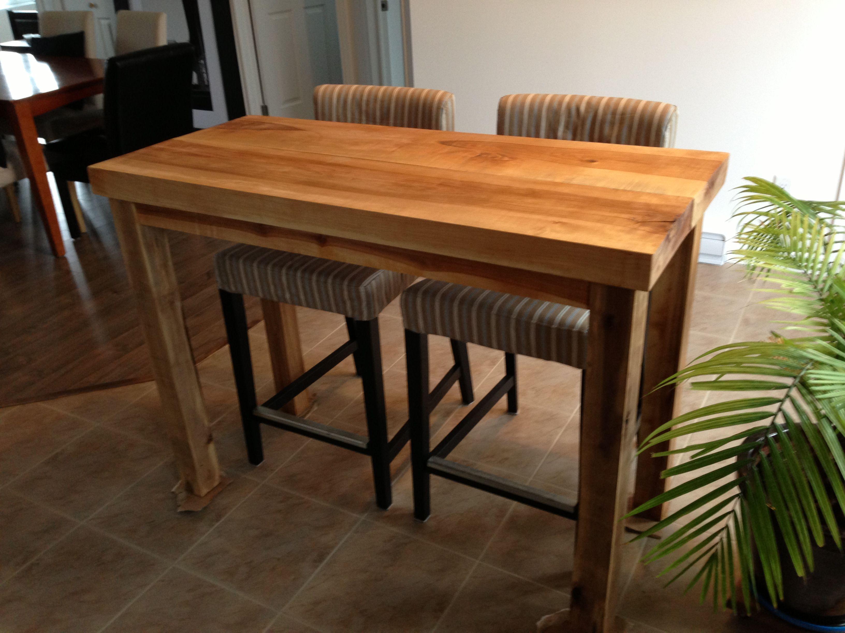comptoir en bois franc et un ilot de cuisine pour encastrer un lave vaisselle avec le surplus. Black Bedroom Furniture Sets. Home Design Ideas