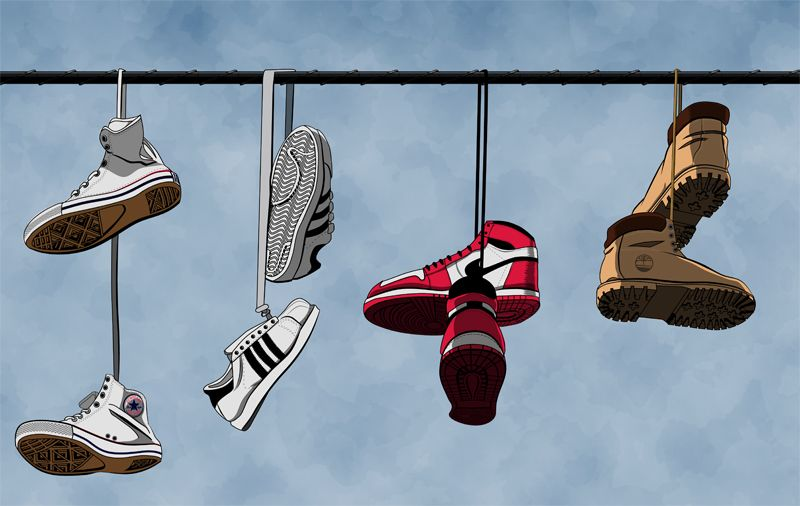 shoes hanging from wire - Google Search