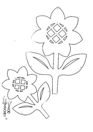 Blumen Flower Template Crafts Fall Halloween