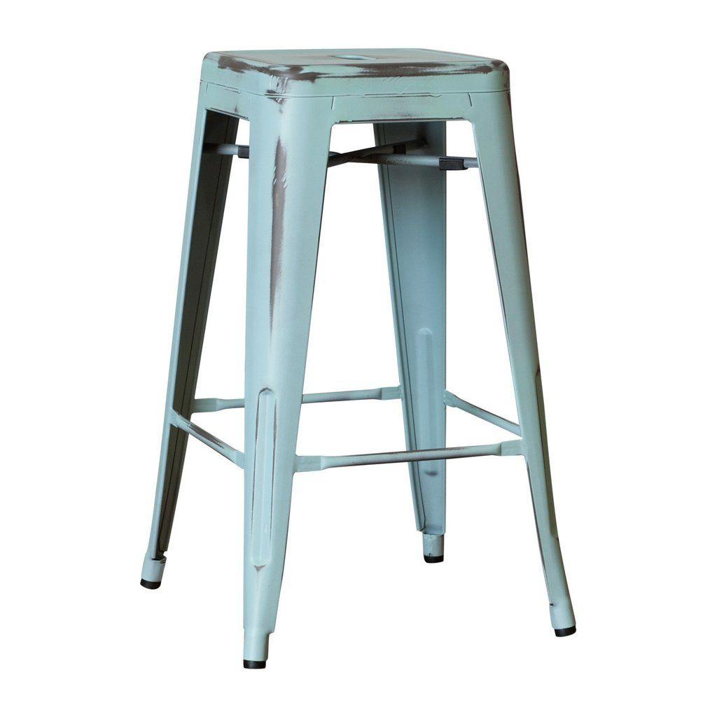 replica tolix counter stool  antique blue  bar stools