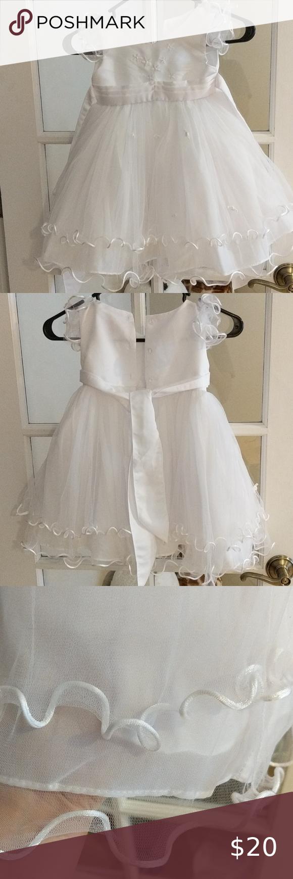 Wonser White Formal 3t Dress 3t Dress Dresses Flower Girl Dresses [ 1740 x 580 Pixel ]