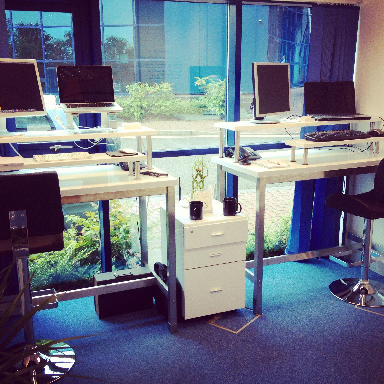 New Office DIY Stand Up Desks