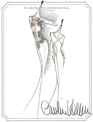 El vestido está diseñado por Carolina Herrera para la película Crepúsculo