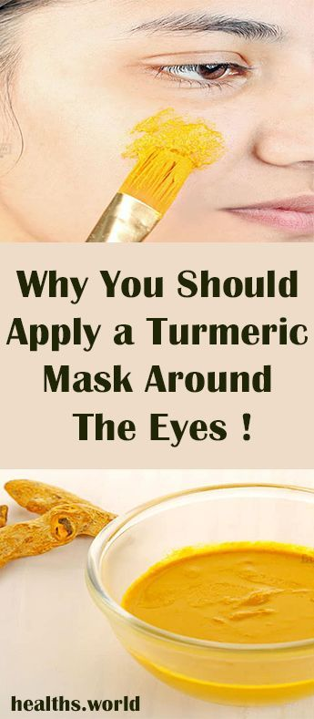 Why You Should Apply a Turmeric Mask Around The Eyes ! #fitness #beauty #hair #workout #health #diy...