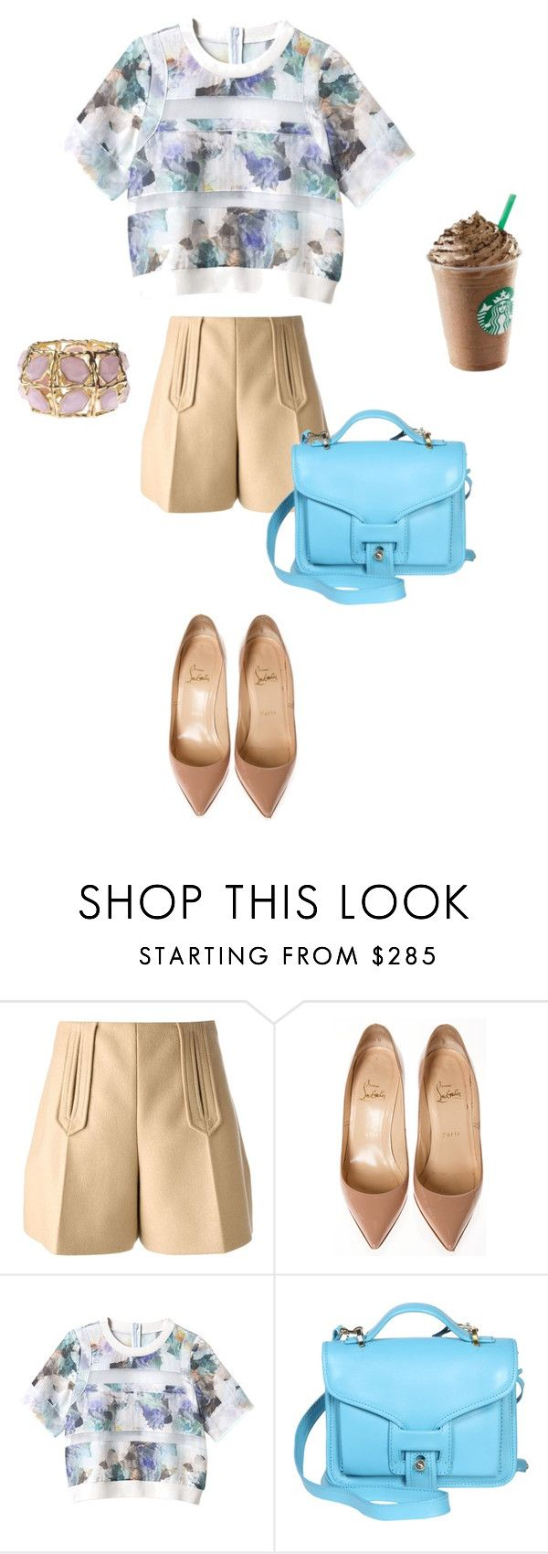 """Morning"" by explorer-14068977917 ❤ liked on Polyvore featuring beauty, Carven, Christian Louboutin, Rebecca Taylor and Opening Ceremony"