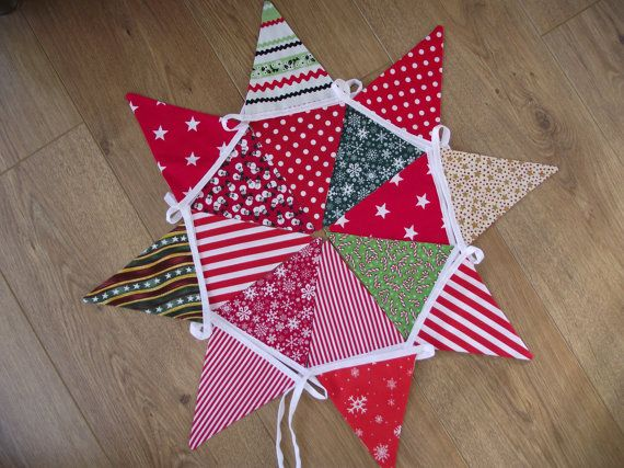 Handmade Christmas Bunting in a Mix of Festive by BreifneCottage, £16.00