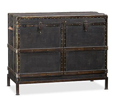 Ludlow Trunk Bar Cabinet #potterybarn