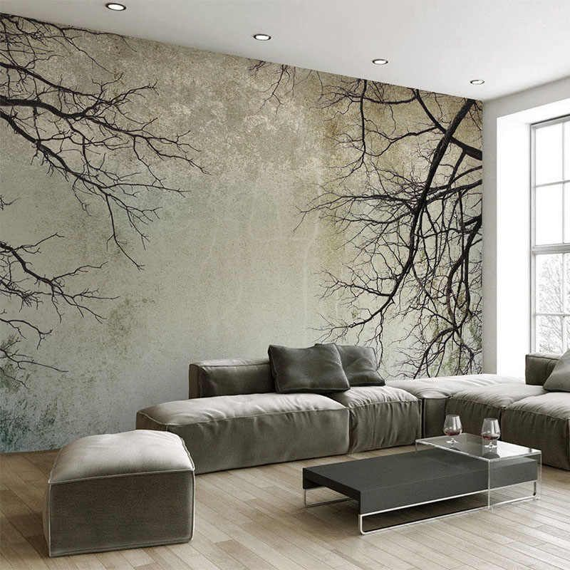 Custom Any Size Mural Wallpaper Modern Simple Branch Sky Photo Wall Paper For Walls 3d Living Room Home Decor Papel De Parede 3d Photo Wall Paper Wall Paperpape Wallpaper Living Room Living Room
