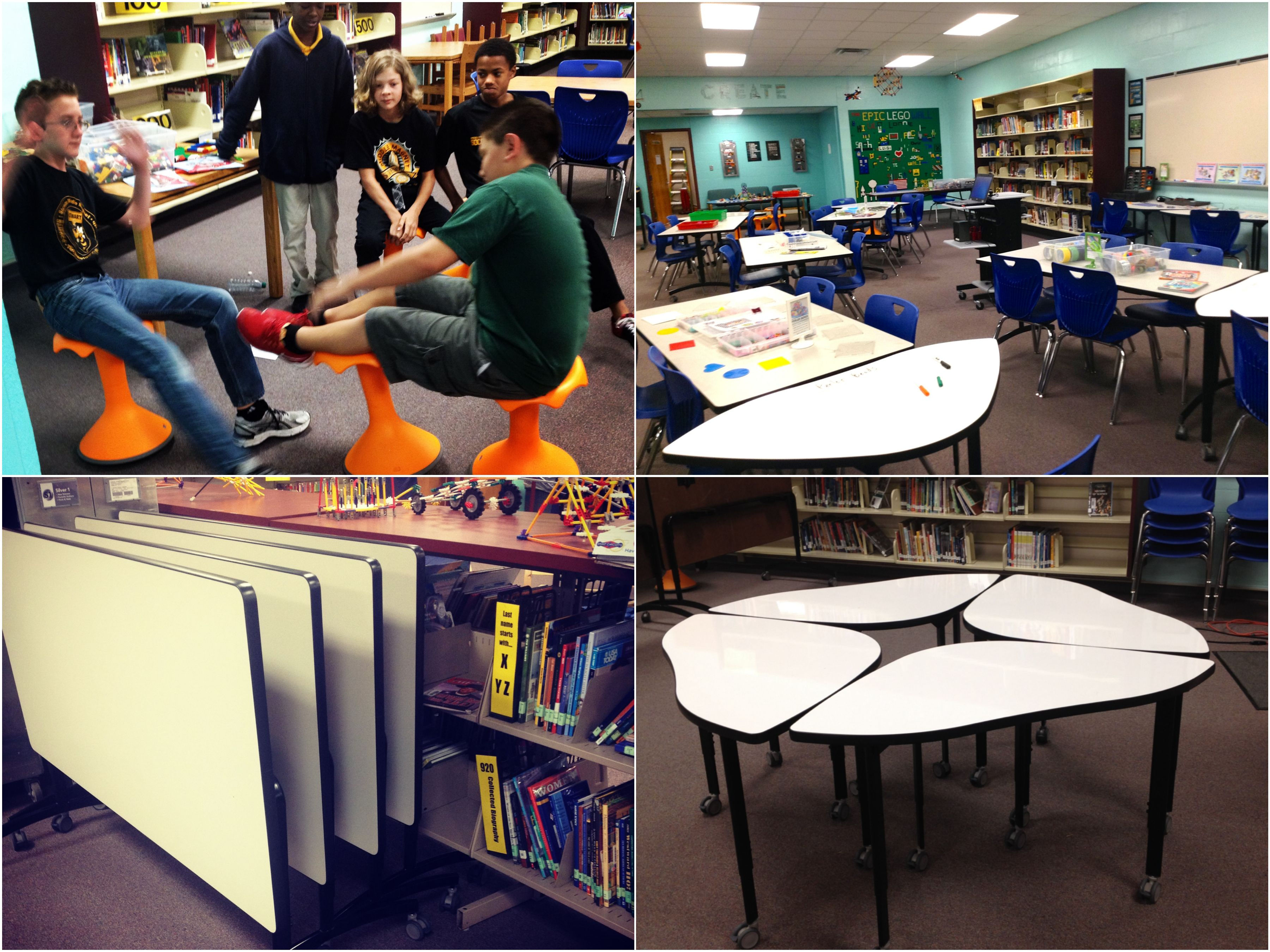 Rethinking Classroom Design ~ Ways to rethink your library space and make it amazing