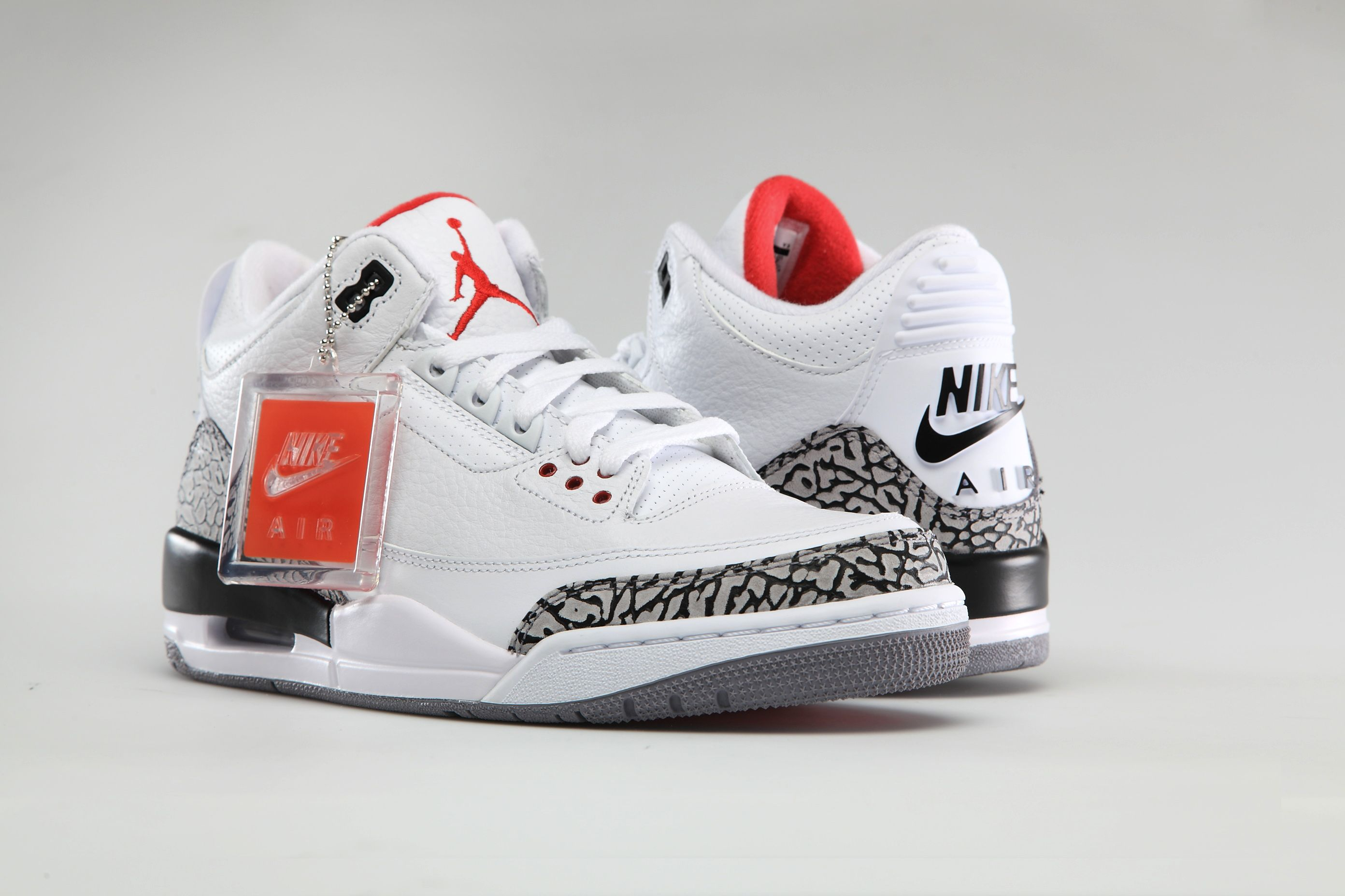 "super popular 404ad a1eeb The ""White Cement"" 3s with Nike Air branding on the back will be available  at  200 in Men s sizes and  125 in GS sizes."