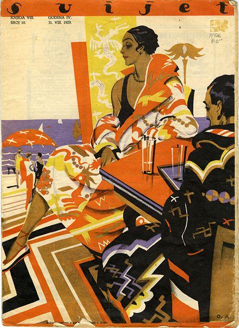 Zagreb Deco Print Magazine Art Deco Illustration Retro Art Illustration