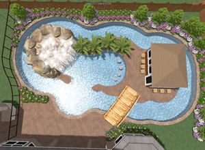 Elegant Lazy River Pools, Residential Lazy Rivers | Phoenix Landscaping .