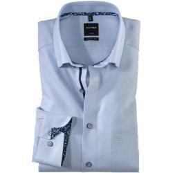 Photo of Olymp Luxor shirt, modern fit, under-button-down, Bleu, 44 Olymp