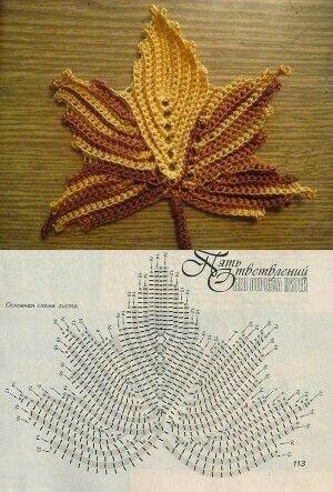Crochet Maple Leaf Pattern Fiber Arts And Kids Crafts Pinterest