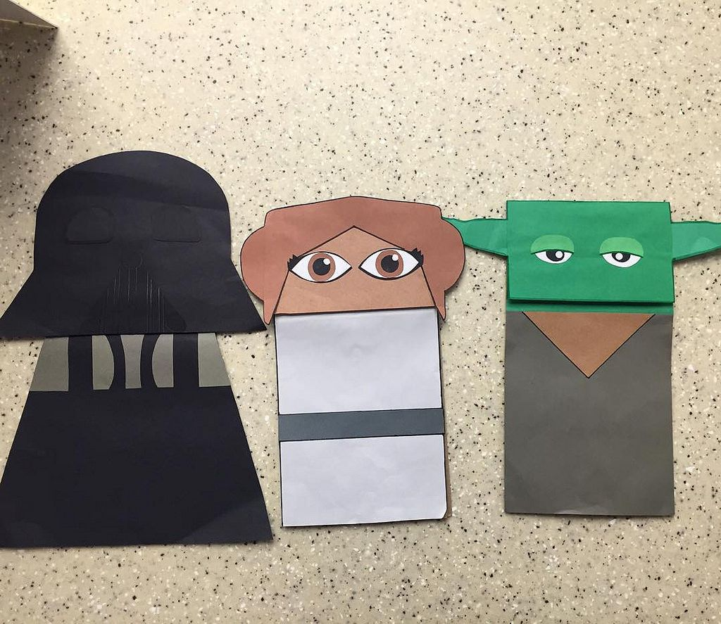 Puppet paper bag star wars google search paper bags puppet paper bag star wars google search jeuxipadfo Gallery