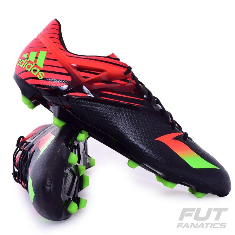 15596749c119d Chuteira Adidas Messi 15.1 FG Campo Preta Somente na FutFanatics você  compra agora Chuteira Adidas Messi