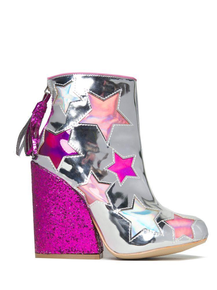 Jem Glitter Heel in Silver