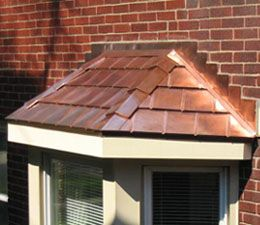 Copper Bay Window Kits I Love It When The Get Get A Nice Green Bay Window Metal Roof Colors Metal Roof