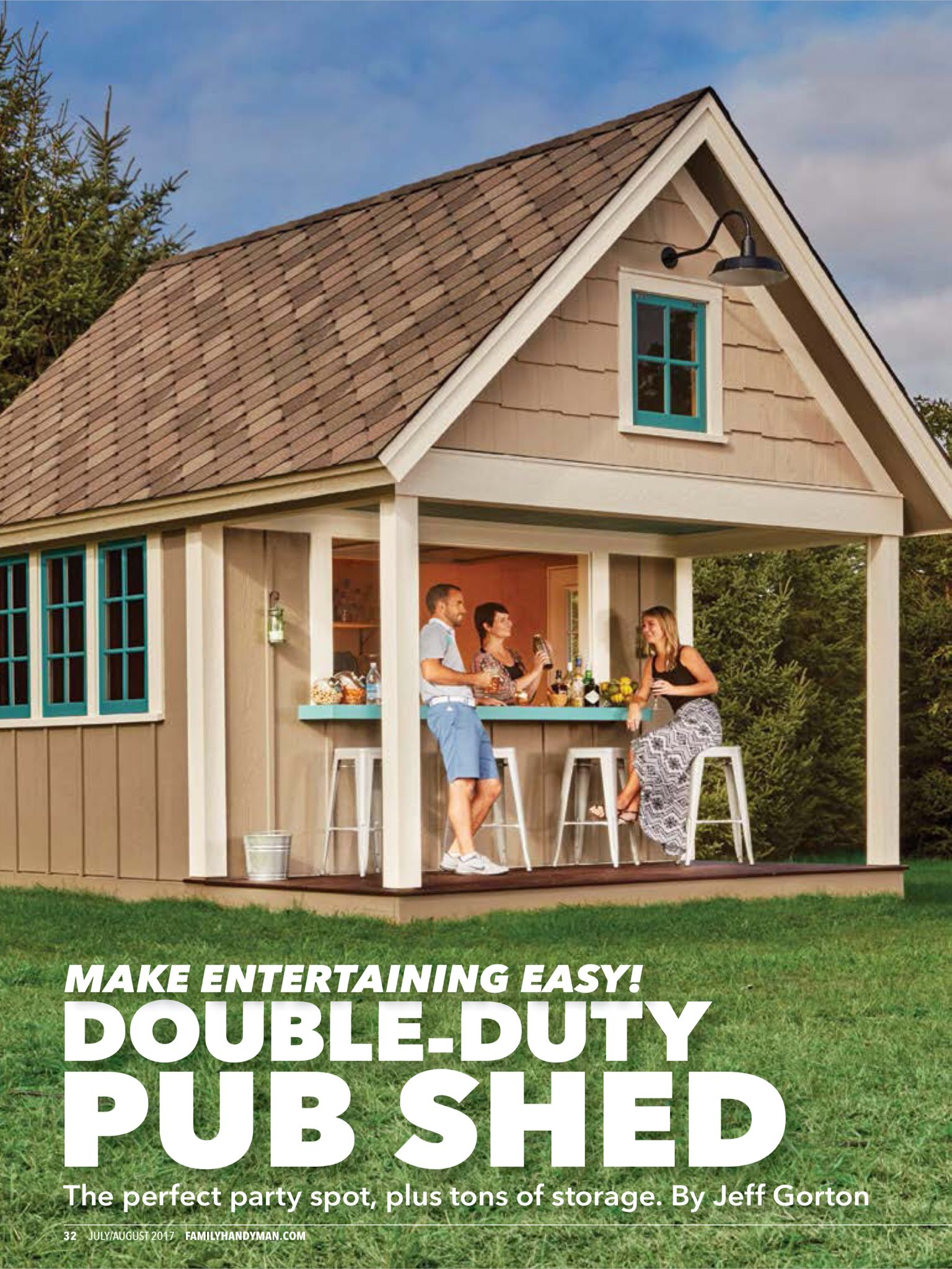Double Duty Pub Shed from Family Handyman JulyAugust