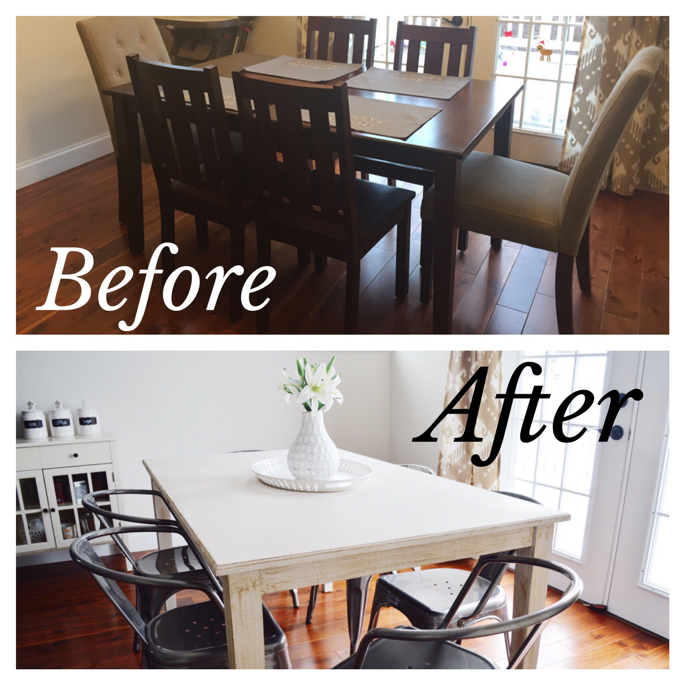 Easy Diy Farmhouse Table Makeover  Industrial Chairs  Farmhouse Entrancing Diy Dining Room Table Makeover Review
