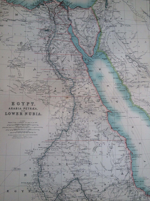 1907 EGYPT ARABIA and NUBIA original antique