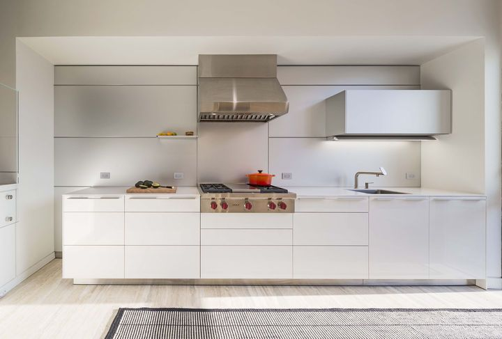 Good A built in wall of cabinets and appliances saves space in this apartment kitchen Lofty Living Pinterest Apartment kitchen Apartments and Kitchens