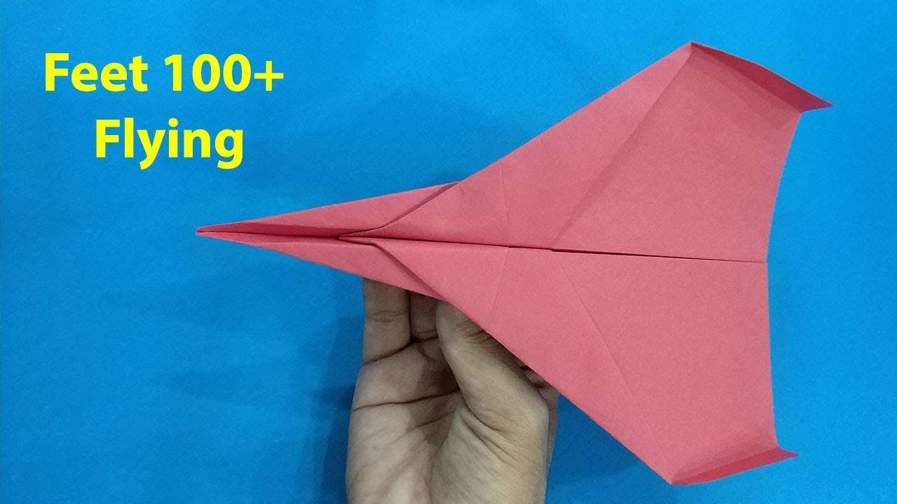 How To Make Paper Airplane That Fly Very Long Plane Instructions Airplanes Best