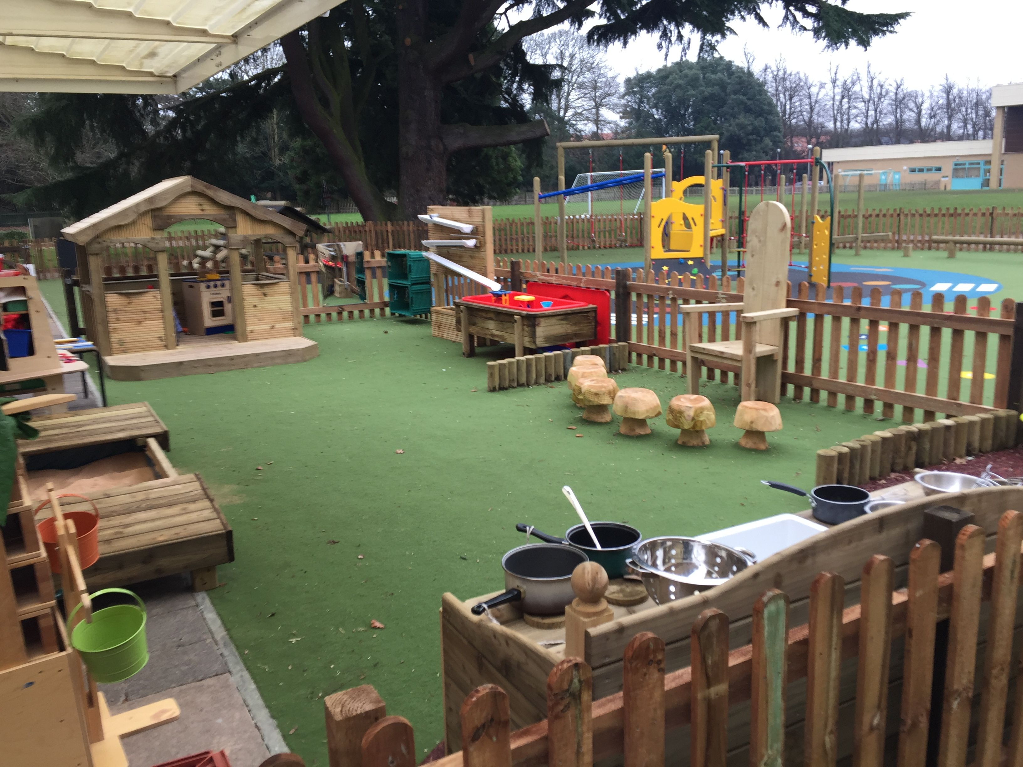 Eyfs Play Area Mud Kitchen Large Timber Playhouse