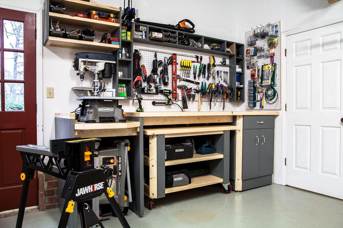 The Ultimate In Workshop Organization Rockwelltools Garage Storage