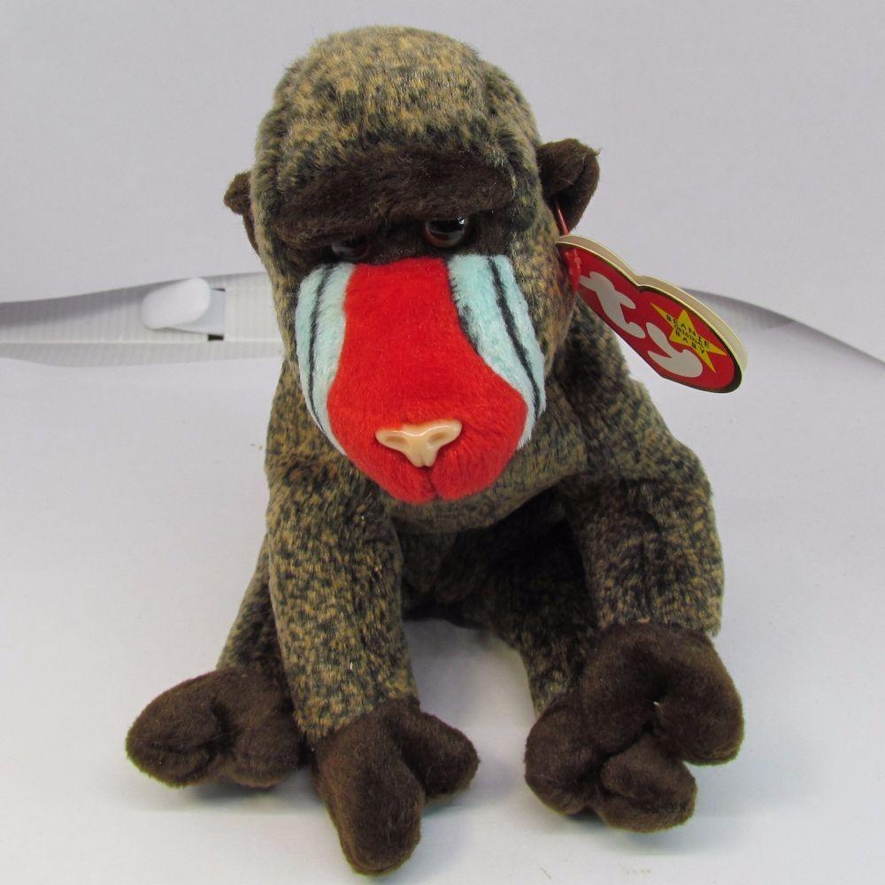 1999 Beanie Babies Retired Cheeks the Baboon Ty Original Tag w  Gosport  Error  Ty  Beanie adea838ffca