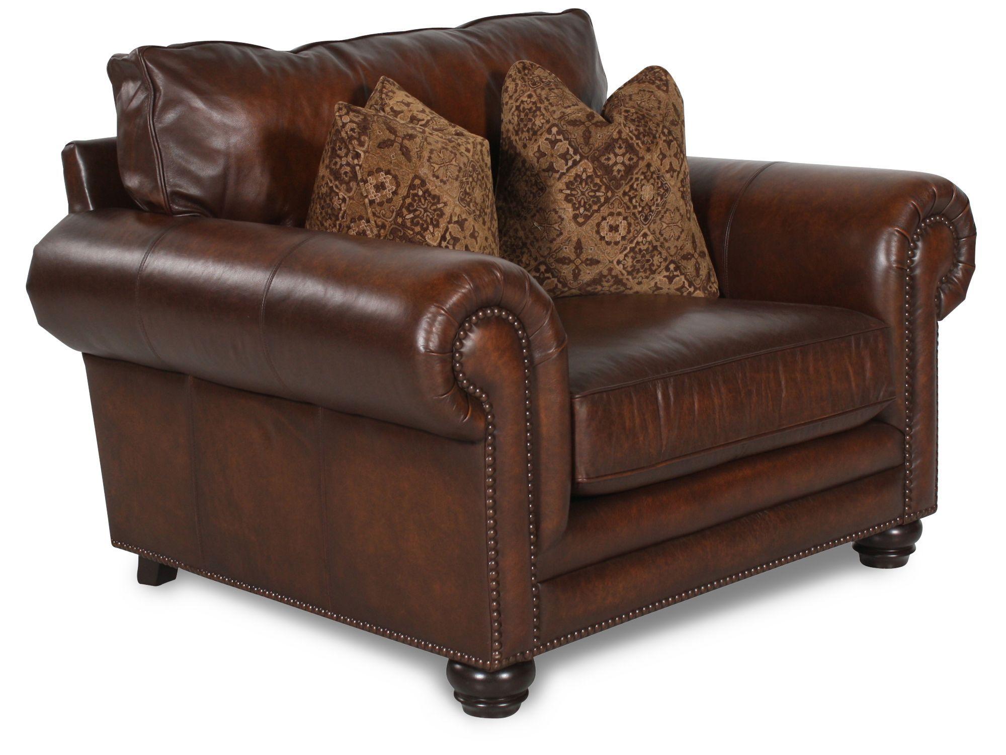 Bernhardt Harrington Leather Chair And A Half Chair And A Half