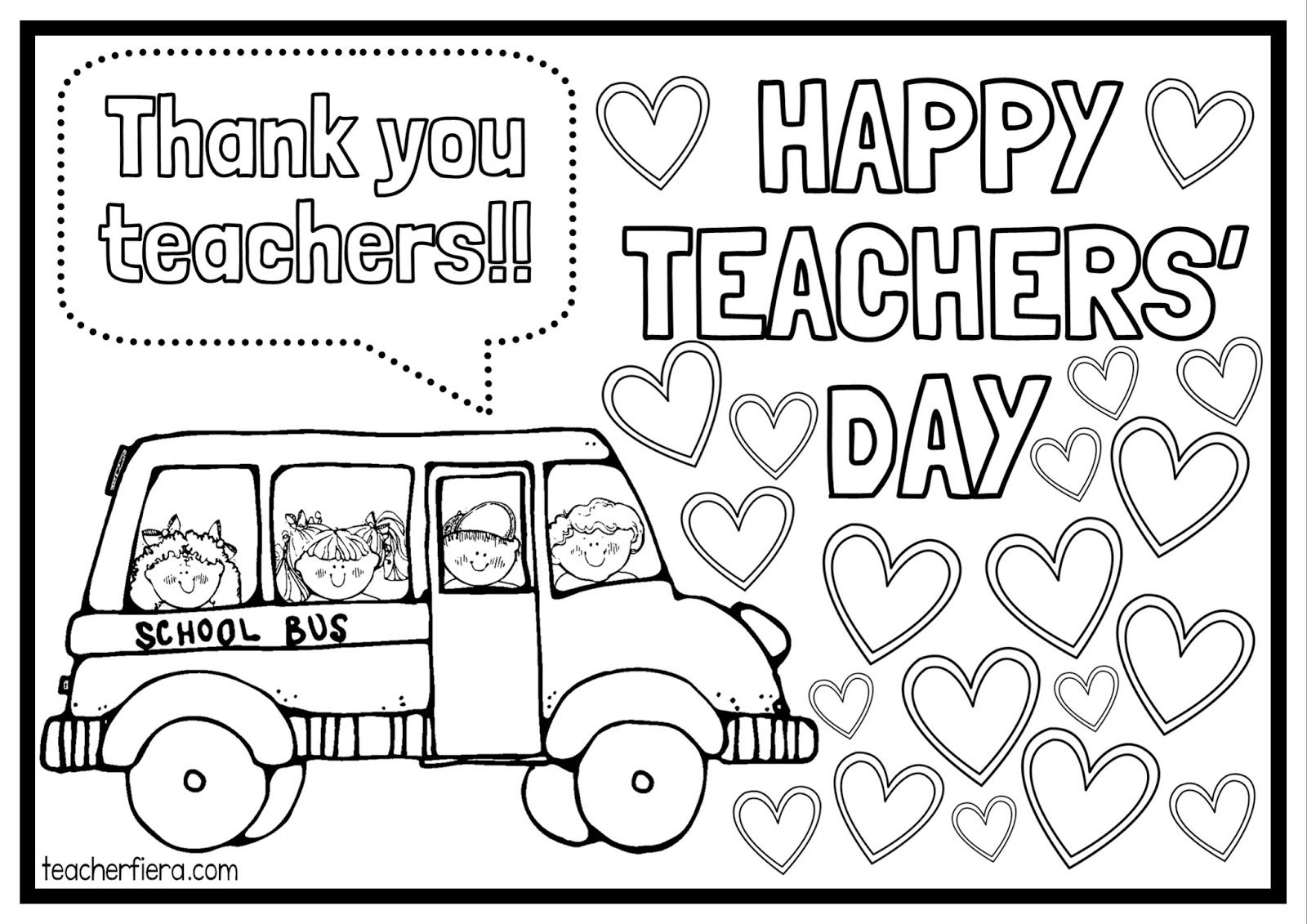 Teachers Day Coloring Pages In