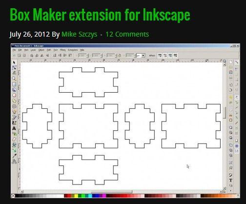 Box Maker Extension For Inkscape   Inkscape   Box maker
