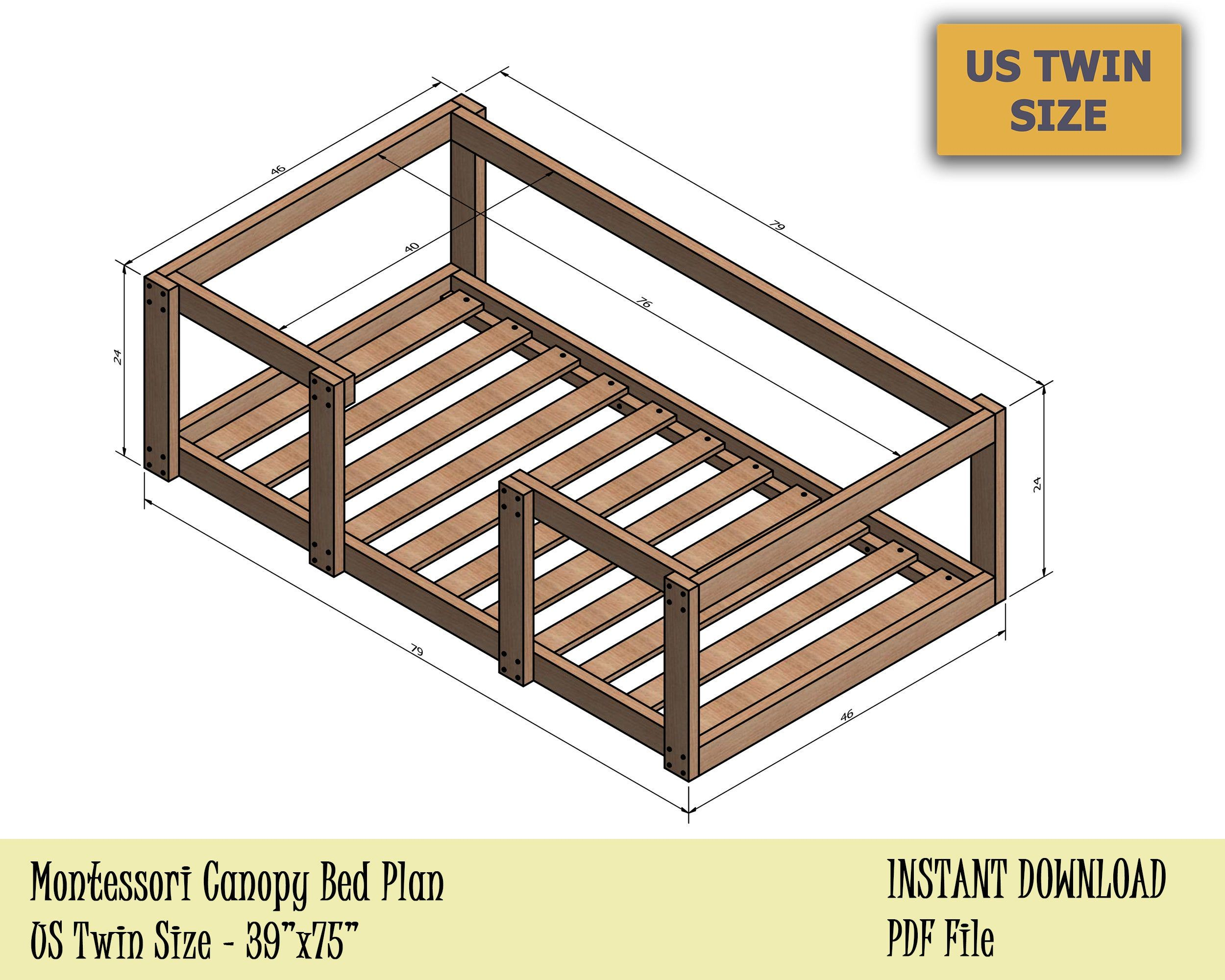 - Pin On DIY Twin Bed
