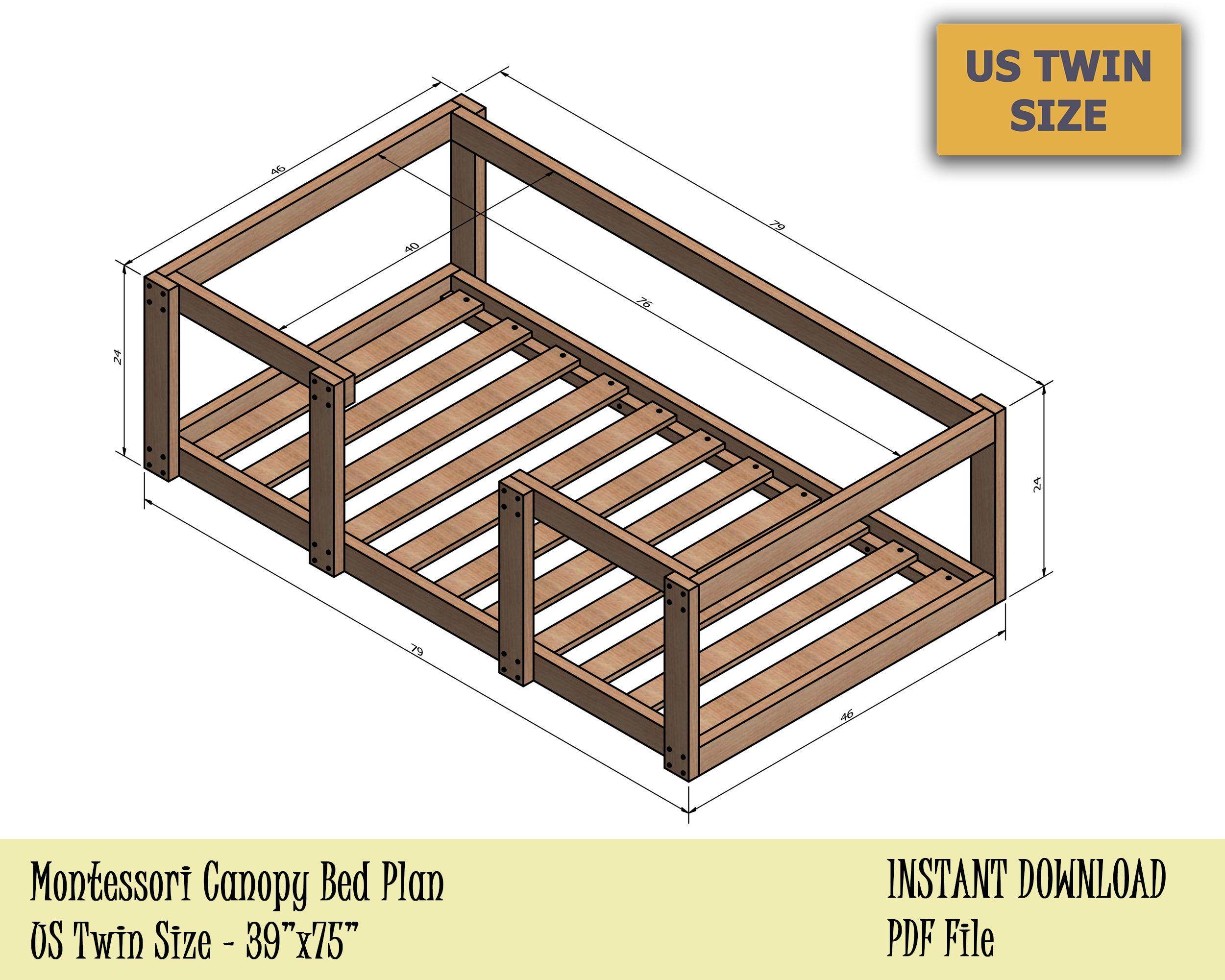 - Pin On DIY Twin Bed