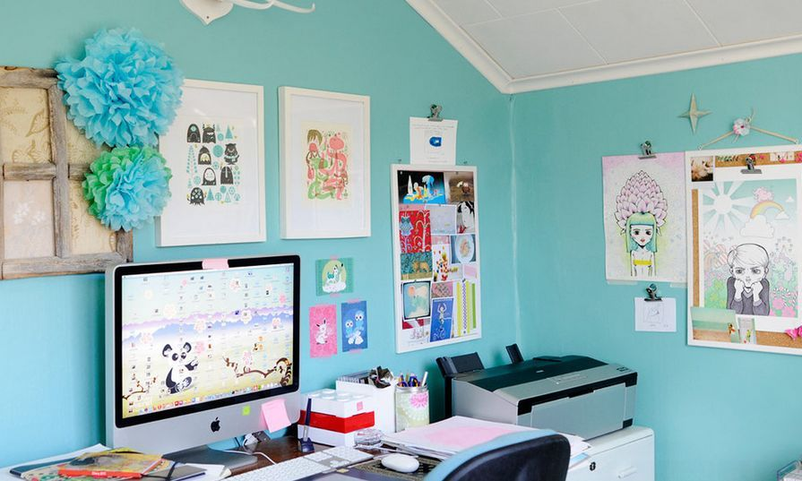 creative tiffany blue paint walls for office blue office on blue office color id=62586