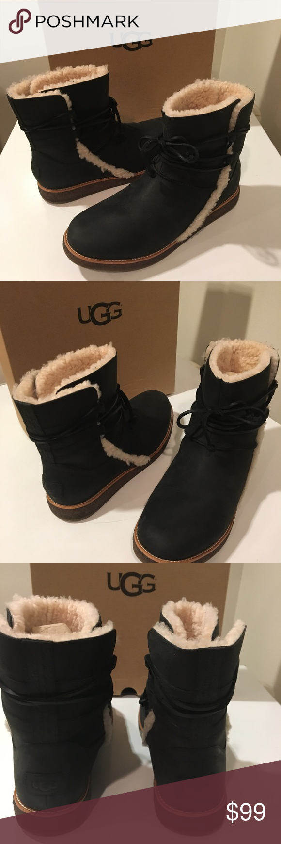 f4f34e581ae New Classic Ugg Luisa black Nubuck Leather boots❤️ Brand new ...