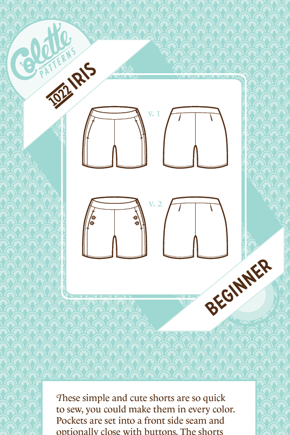 Colette Pattern shorts NEW pattern! | Spring/summer sewing ...