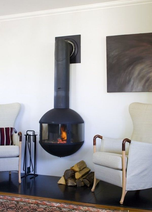 wall-hanging-fireplace | Wood burning, Stove and Woods