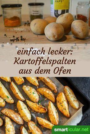 Besser als Pommes: knusprige Kartoffelspalten aus dem Backofen #kartoffeleckenbackofen