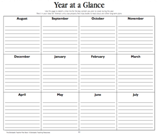 Year At A Glance  Idea For Tracking Goals Need Regular Calendar
