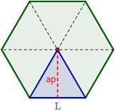 Hexágono Regular Dividido En 6 Triángulos Iguales Hexagono Regular Geometría Plana Geometría