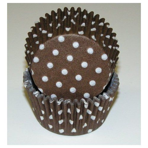 Amazon Com Brown Greaseproof Polka Dot Baking Cup Cupcake Liners