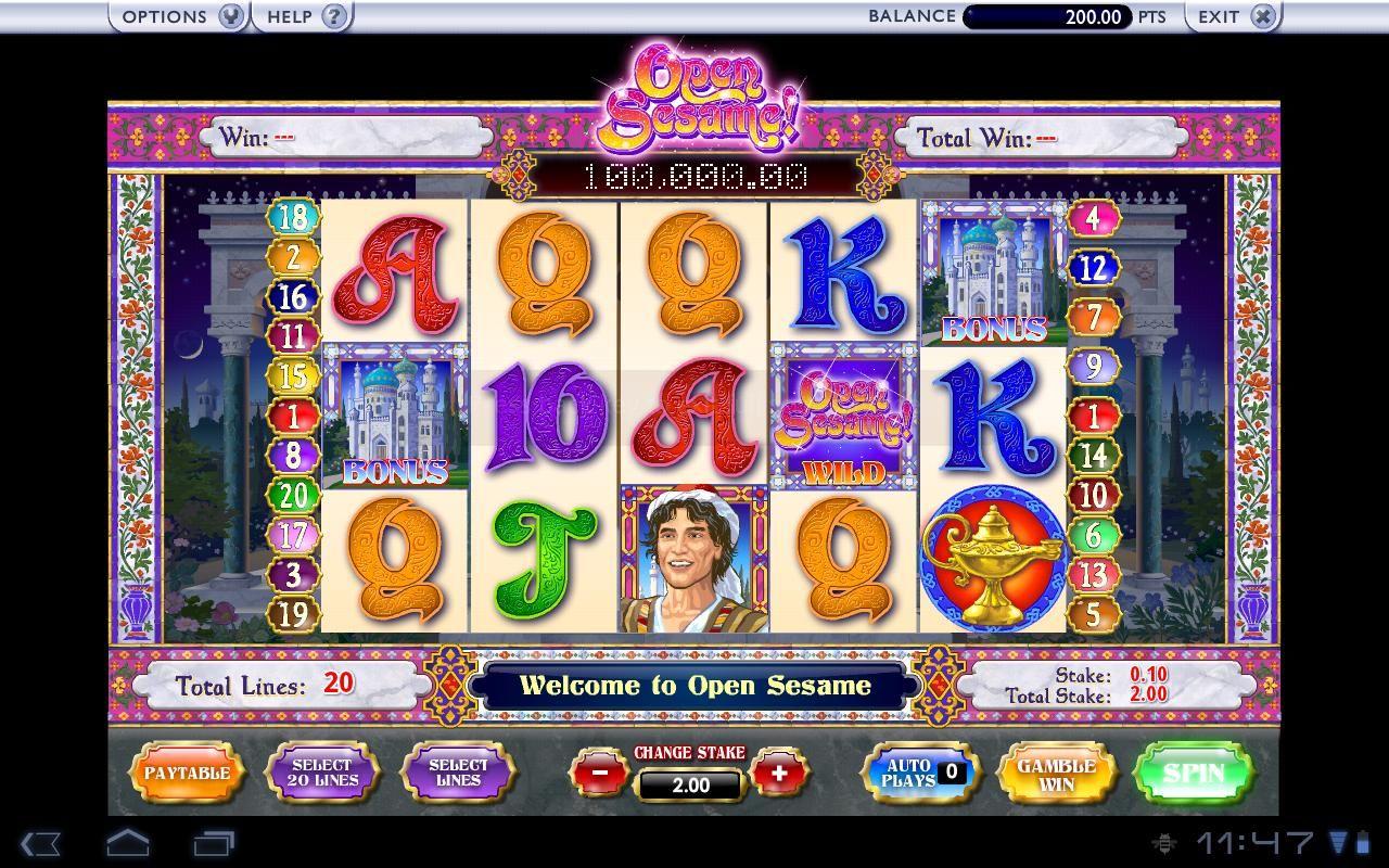 Open Sesame Slot Machine