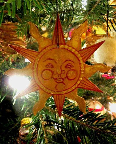 Sun ornament my mom made