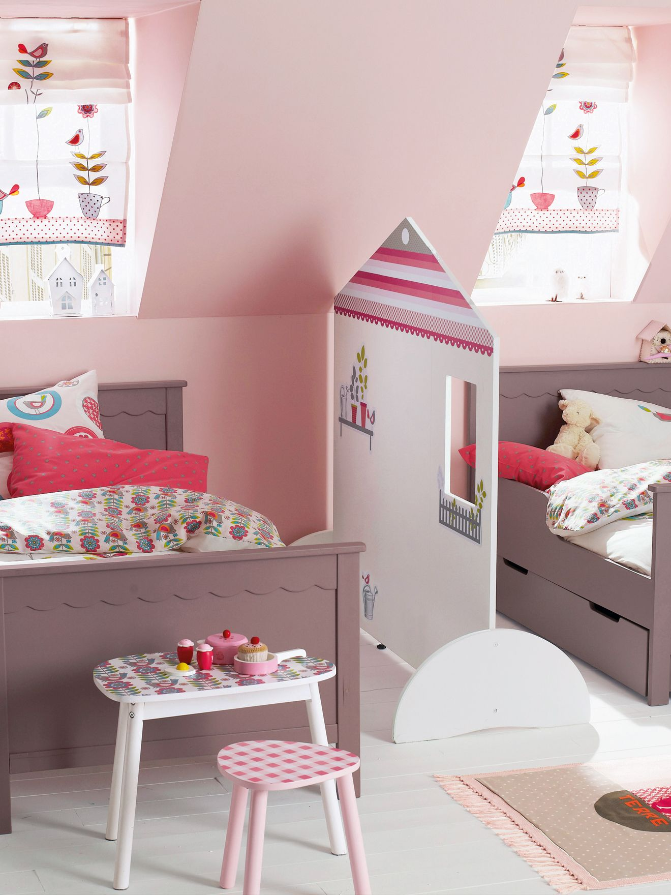 cloison maisonnette paravent th me tea flore kid s room pinterest. Black Bedroom Furniture Sets. Home Design Ideas