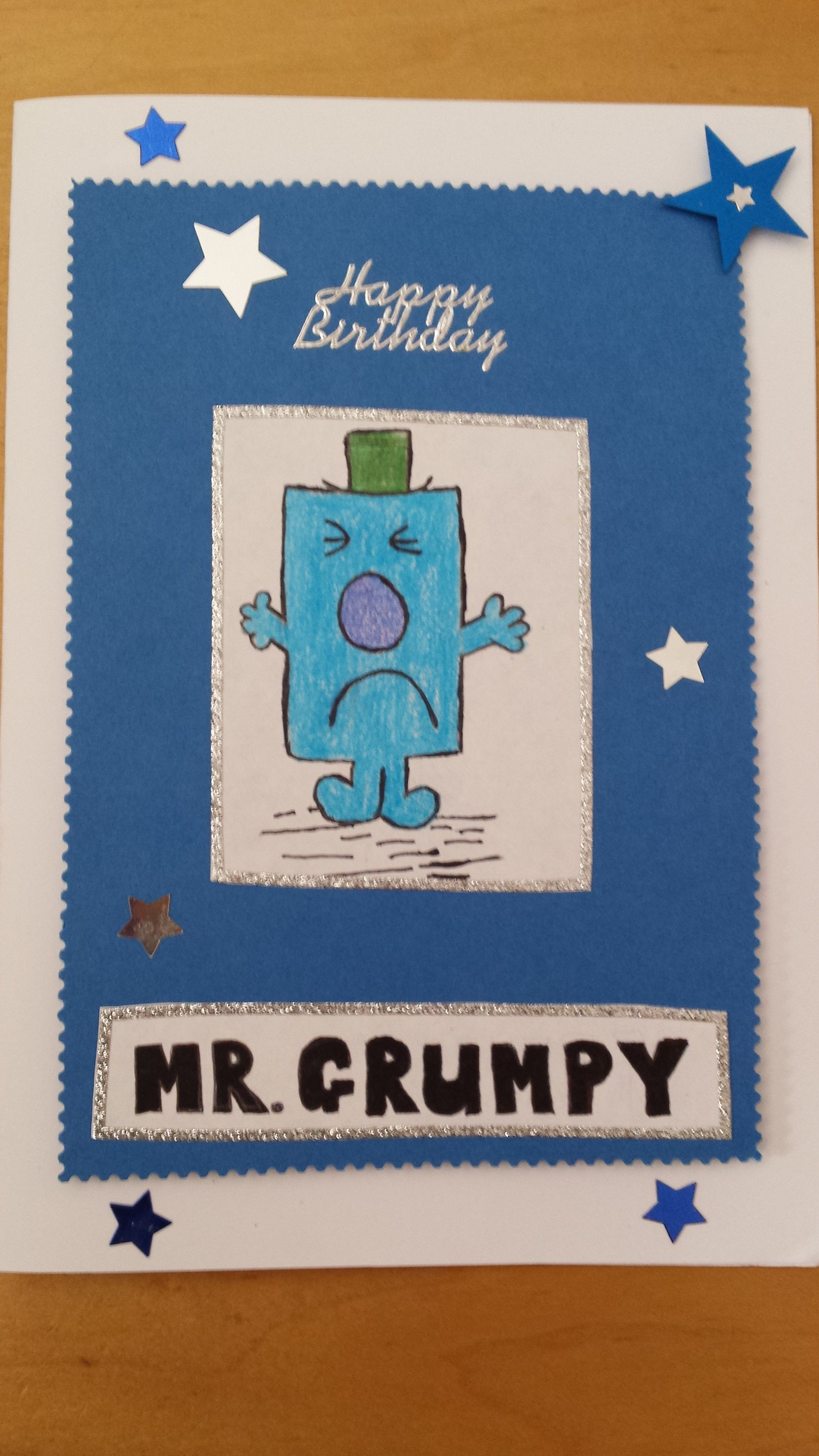 Mr grumpy birthday card handmade cards motherus day cards