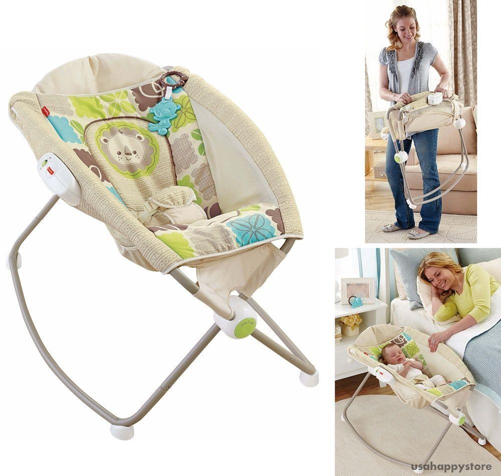 Fisher Price Baby Sleeping Bed Sleeper Newborn Folding Portable ...